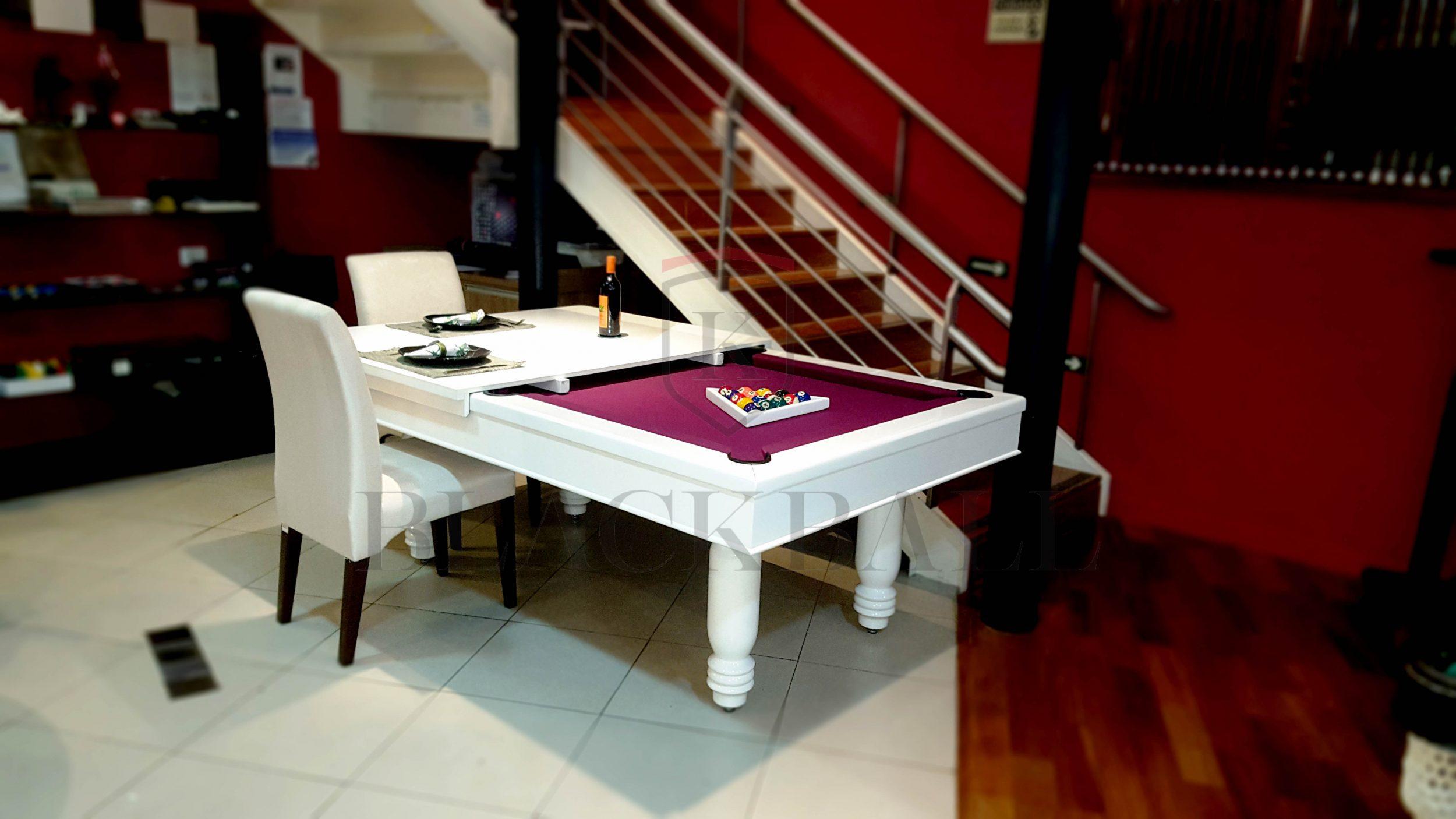 Mesa de bilhar e jantar