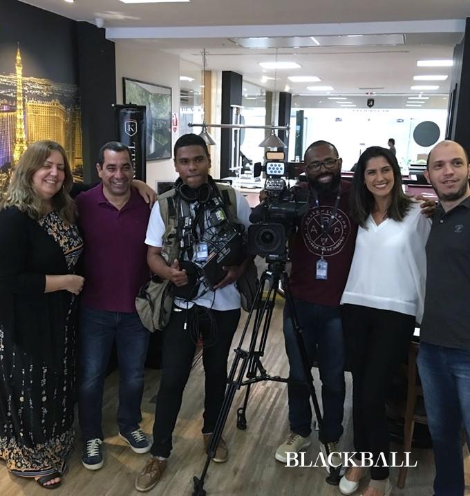 Zinho Jogando Sinuca Para o Esporte Fantástico da Record Na Loja BLACKBALL